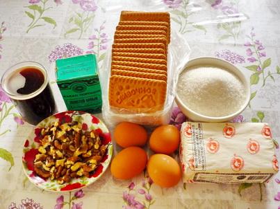 Ингредиенты торта из печенья