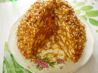 Торт Муравейник в разрезе