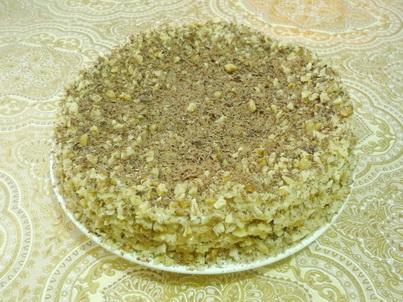Готовый торт со сметанными коржами