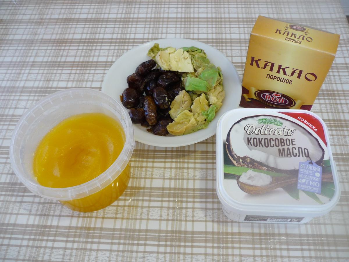 Трюфели из авокадо. Ингредиенты