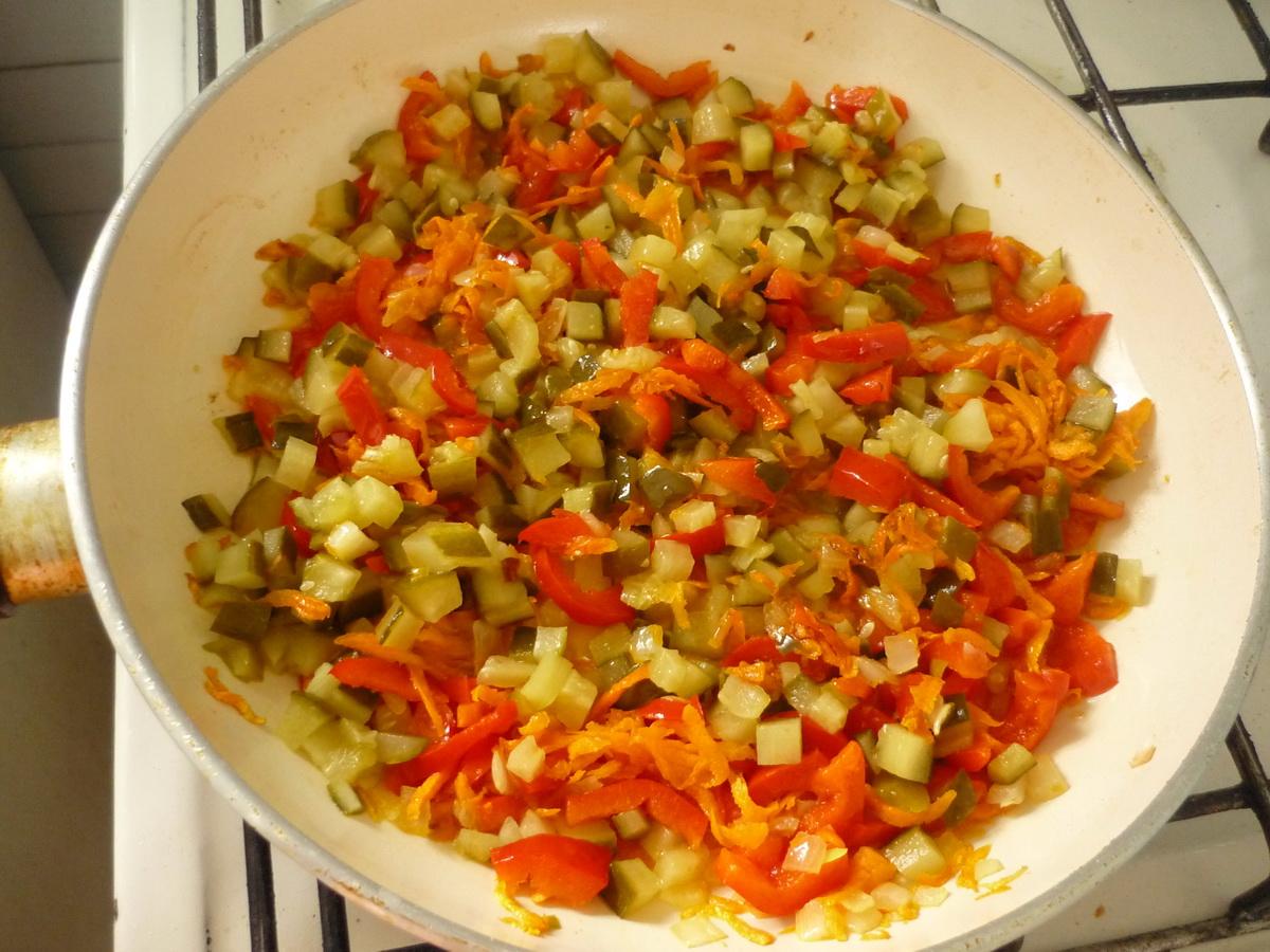 Тушим овощи на сковороде