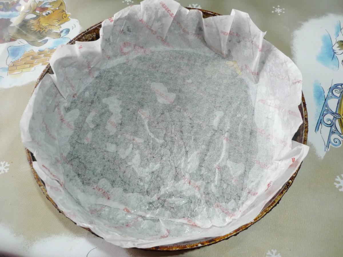 Застелили сковороду бумагой