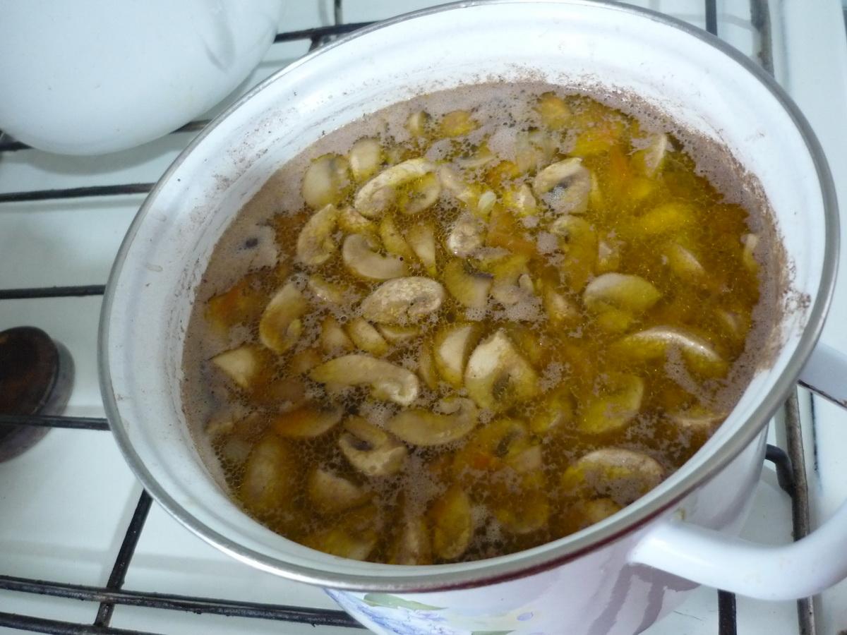 Выложили зажарку в суп