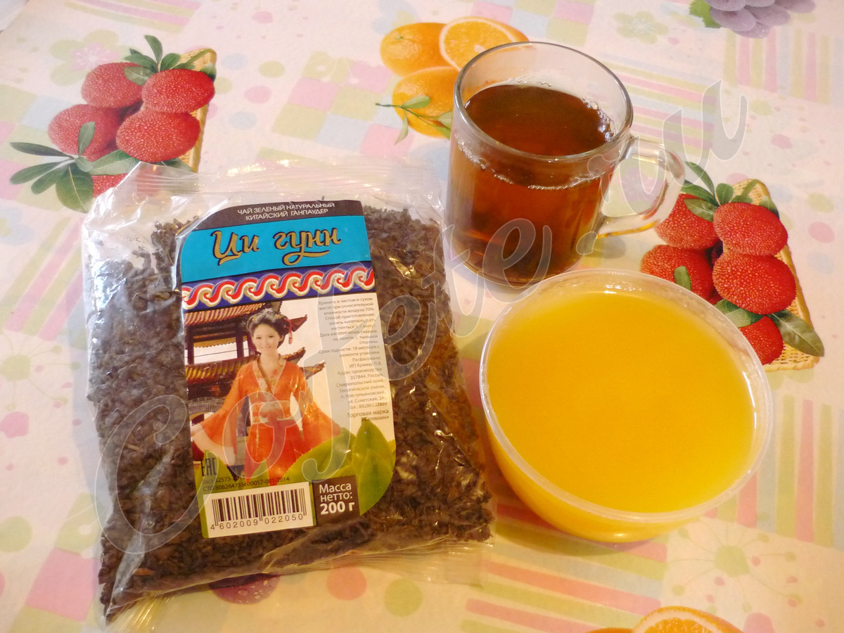 Чай Ци гунн с мёдом
