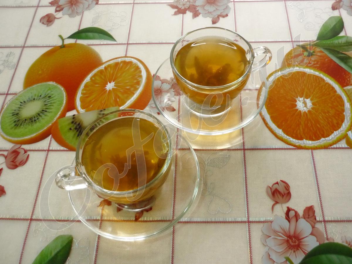 Две чашки зелёного чая