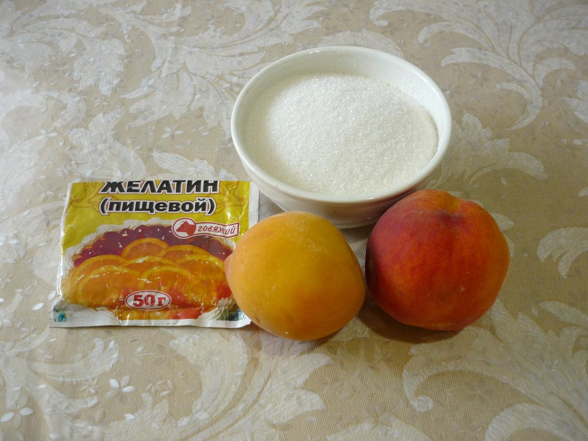 Ингредиенты для желе из персиков